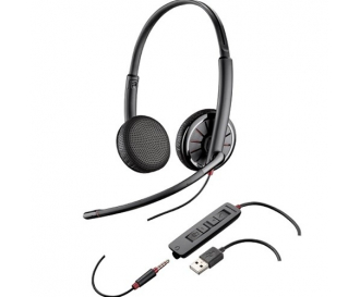 Casti Call Center Plantronics Blackwire C325.1, USB + Cablu 3.5 mm, Microfon Noice Canceling